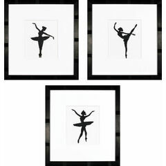 Ballet Silhouettes 1, 2 And 3 Cross Stitch Kits