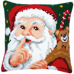Santa Chunky Cross Stitch Cushion Panel Kit