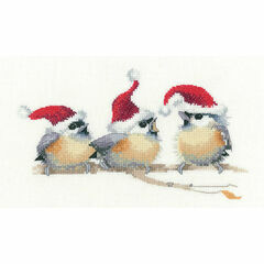 Festive Chicks Cross Stitch Kit
