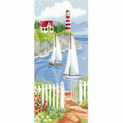 Sailboats In The Bay Cross Stitch Kit