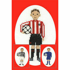 Footballer Card Cross Stitch Kit