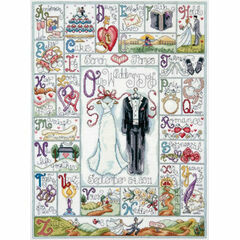 Wedding ABC Cross Stitch Kit