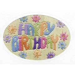 Happy Birthday Long Stitch Card Kit