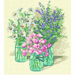 Wildflower Trio Cross Stitch Kit