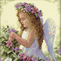 Passion Flower Angel Cross Stitch Kit