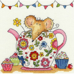 Teapot Mouse Cross Stitch Kit