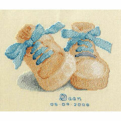 Baby Boots Birth Sampler Cross Stitch Kit