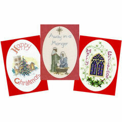 Traditional Collection Set Of 3 Cross Stitch Christmas Card Kits