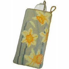Daffodils Light Tapestry Glasses Cross Stitch Case Kit