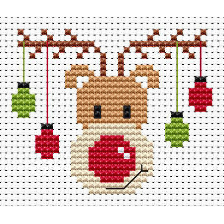 sew simple rudolf cross stitch kit only 163900