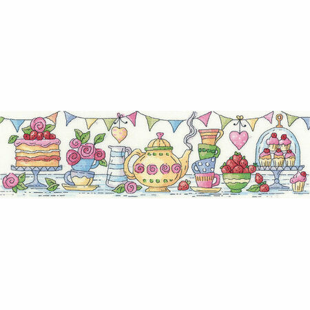 afternoon tea cross stitch kit only 1632150
