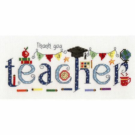 Thank You Teacher Cross Stitch Kit Only 163 18 95