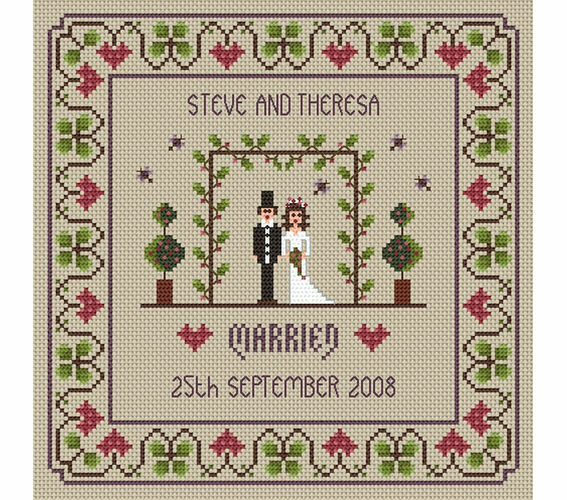 Little Dove Designs The Wedding Marriage Counted Cross Stitch Kit 14 Count Ebay