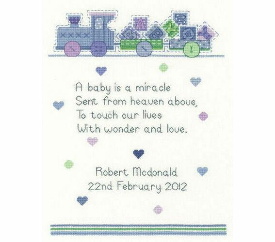 Heritage Crafts Newborn Baby Boy Verse Counted Cross Stitch Kit 14 Count Aida Ebay
