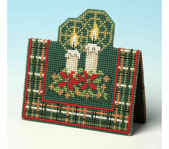 Christmas Candles 3D Festive Counted Cross Stitch Card Kit ...