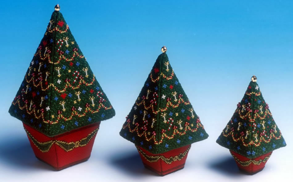 Set of 3 Christmas Trees 3D Cross Stitch Kit only £47.50