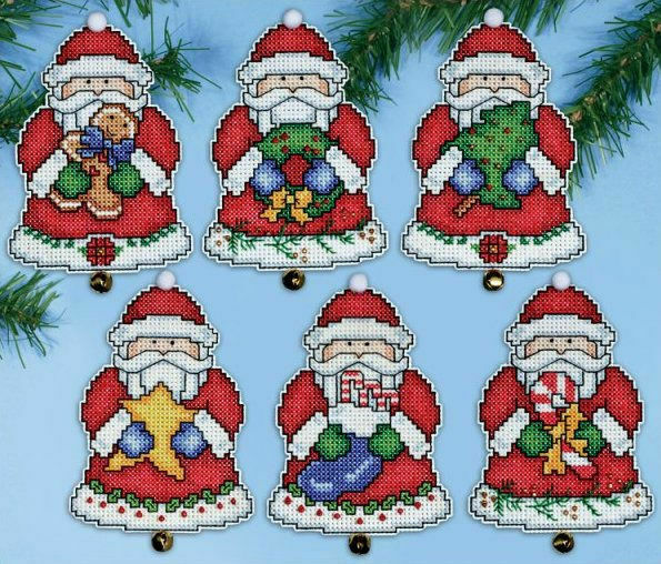 Santa's Gifts Christmas Ornament Cross Stitch Kit only £20.95