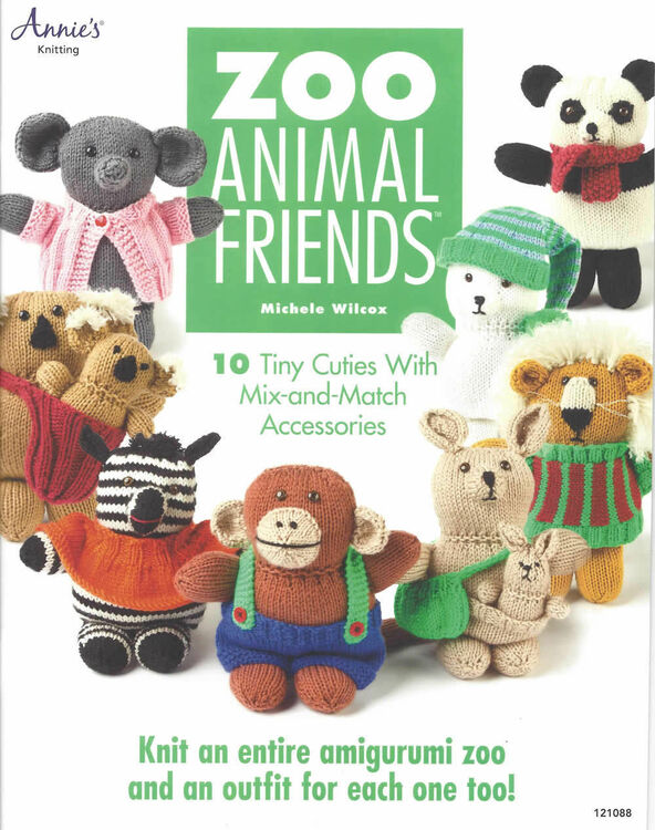 Knitting Animals Book : Zoo animal friends knitting pattern book only £