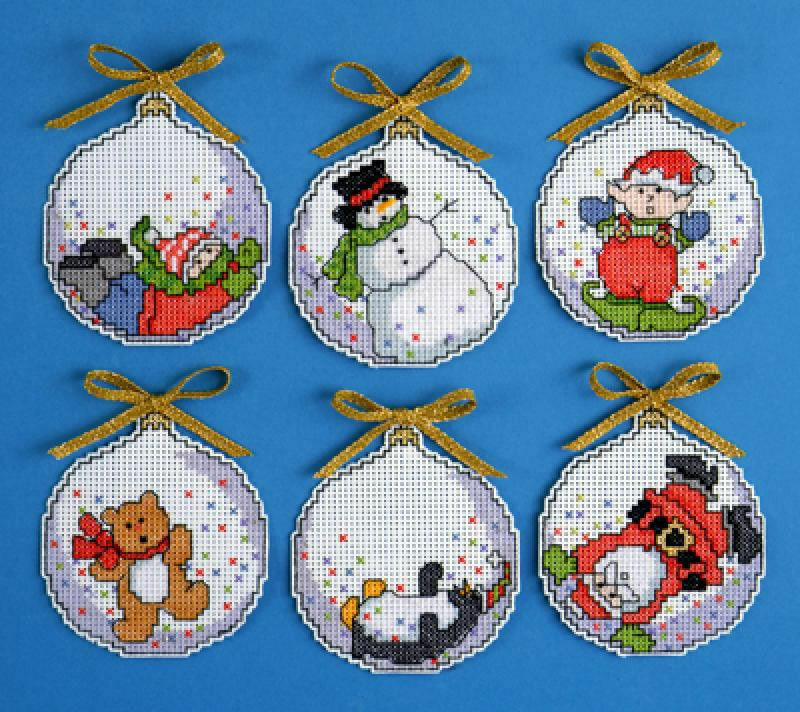Bubbles Counted Cross Stitch Ornaments Christmas Kit (Set ...