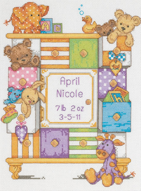 Baby Drawers Cross Stitch Kit Birth Record Only 163 20 70