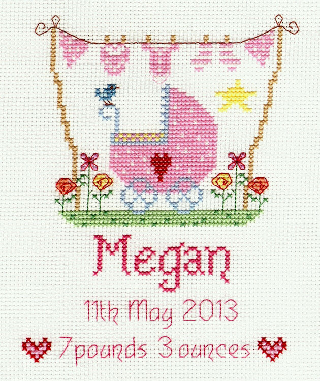 New Baby Girl Cross Stitch Kit Only 163 18 95