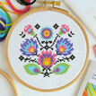 Beginners Folk Flowers - Learn How To Cross Stitch Complete Tutorial Kit additional 1