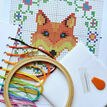 Beginners Fox - Learn How To Cross Stitch Complete Tutorial Kit additional 3