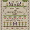 Welcome To Twins Cross Stitch Birth Sampler Kit additional 2