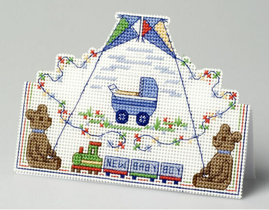Baby Boy Card 3D Cross Stitch Kit