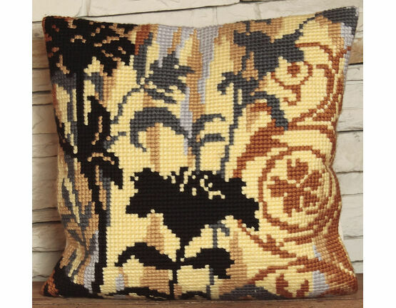 Silhouette On Left Cushion Panel Cross Stitch Kit