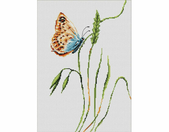 Smell Of Summer Butterfly Cross Stitch Kit