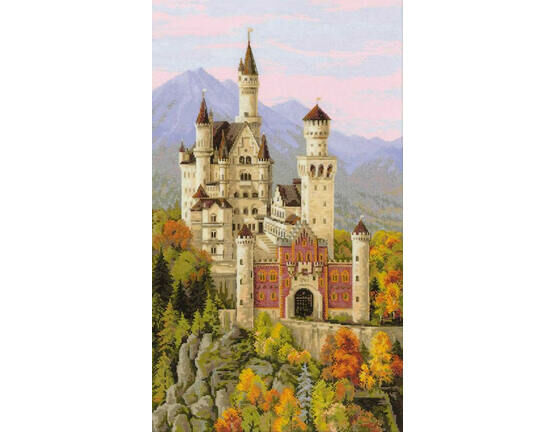 Neuschwanstein Castle Cross Stitch Kit