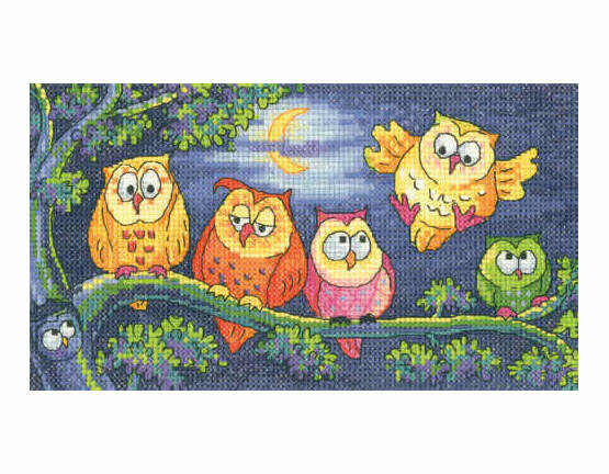 Hoot Of Owls Cross Stitch Kit