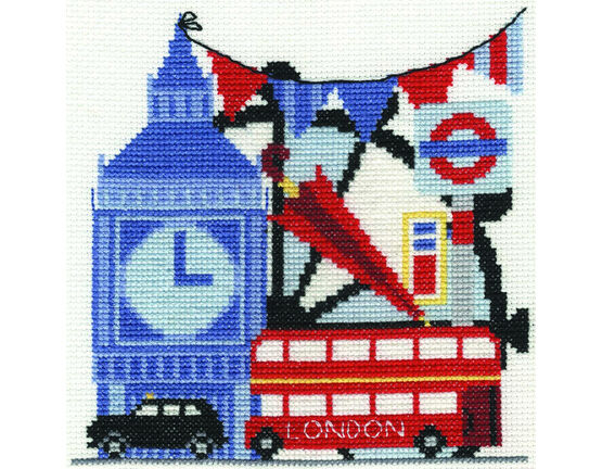 London Sight-Seeing Cross Stitch Kit