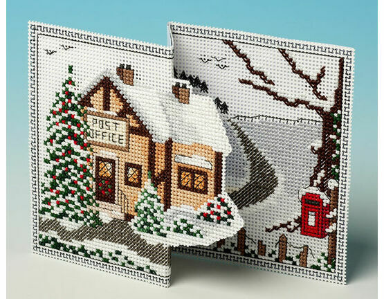 Christmas Post Deluxe 3D Cross Stitch Card Kit