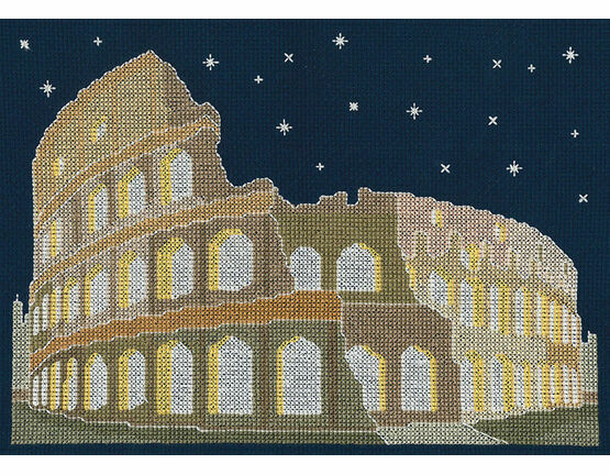 Rome By Night Glow In The Dark Cross Stitch Kit