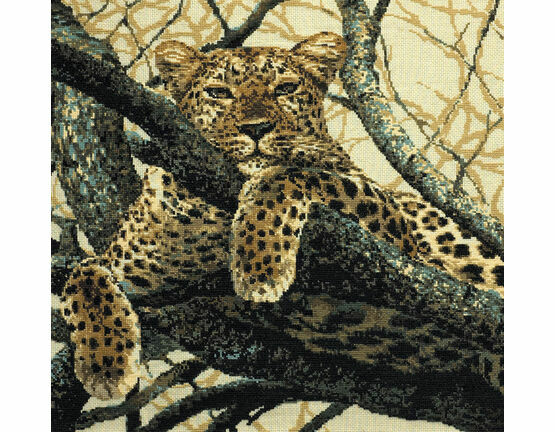 The Leopard Cross Stitch Kit