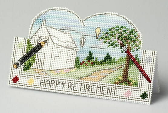 New Beginnings Retirement Card 3D Cross Stitch Kit