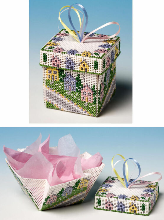 Up Hill & Down Dale Exploding Box 3D Cross Stitch Kit