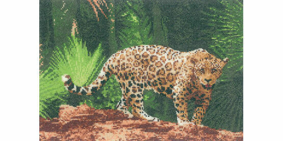 Jaguar Cross Stitch Kit