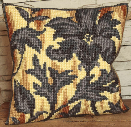 Silhouette On Right Cushion Panel Cross Stitch Kit