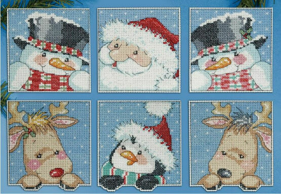 Funny Friends Christmas Cross Stitch Ornaments Kits