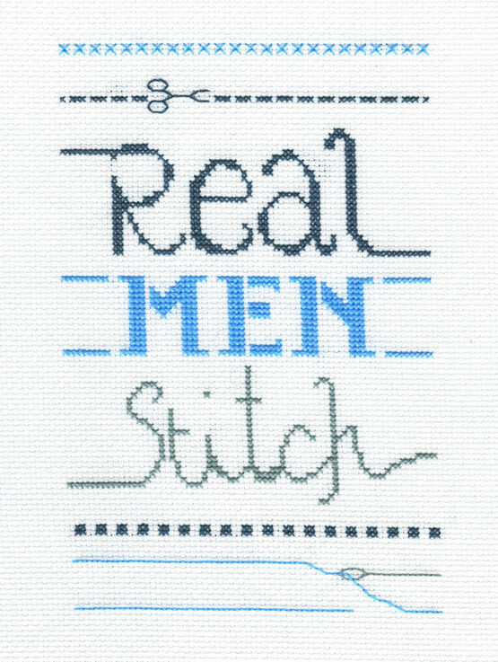 Real Men Cross Stitch Kit