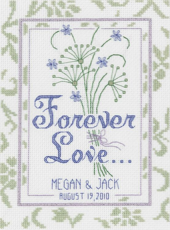 Forever Love Wedding Sampler Cross Stitch Kit