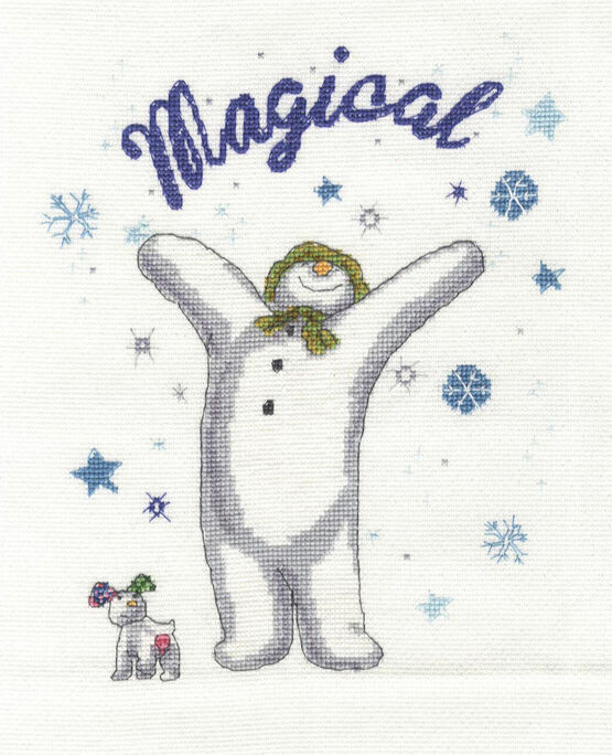 Snowman & The Snowdog - A Magical Christmas Cross Stitch Kit