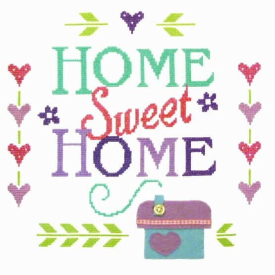 Home Sampler Cross Stitch Felty Kit