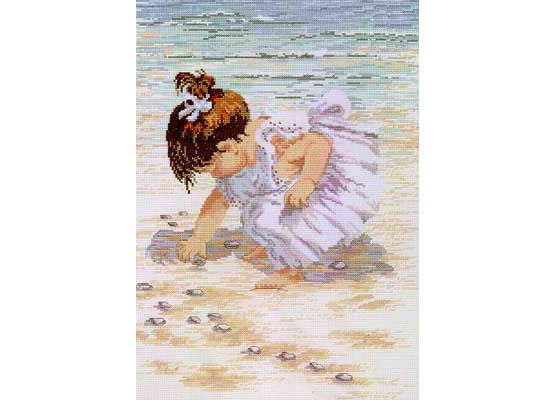 Collecting Shells Cross Stitch Kit