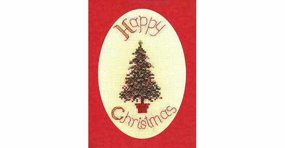Festive Tree Christmas Cross Stitch Card Kit