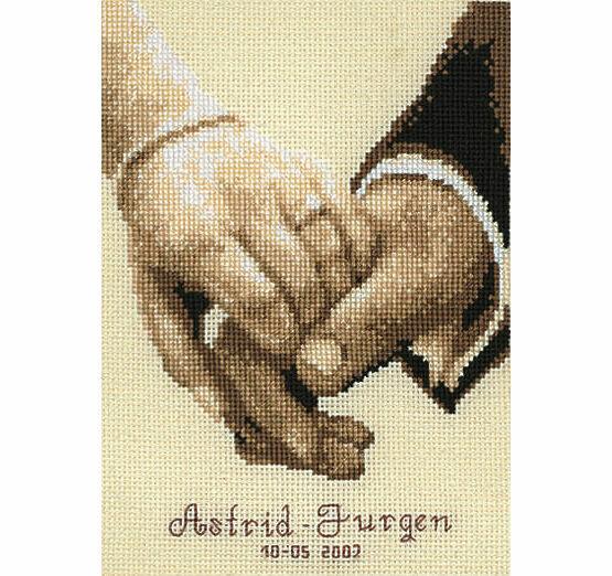 wedding happiness cross stitch kit