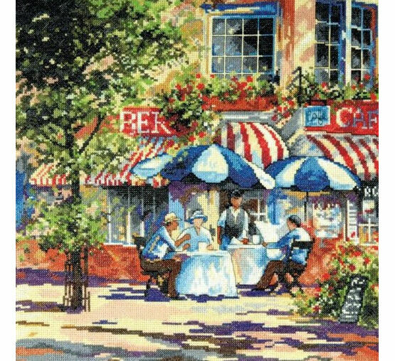 Cafe In The Sun Cross Stitch Kit